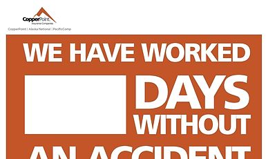 Poster - Days without an Accident